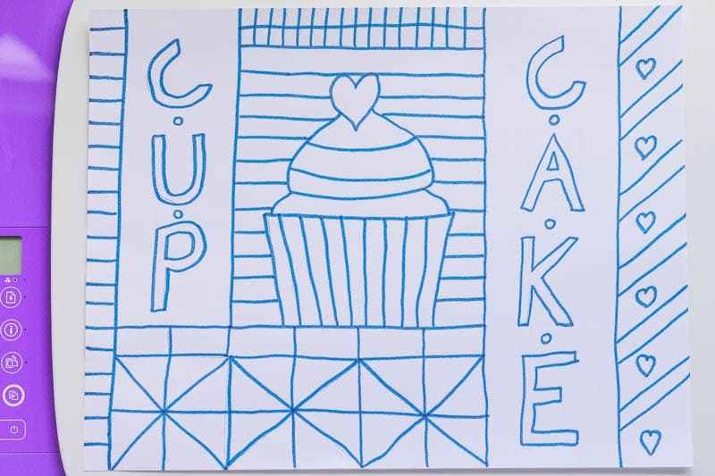 Learn how to draw your own cupcake coloring sheet in this fun food-themed tutorial, then make your own copies for your kids to color and enjoy!