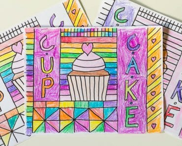 Learn how to draw your own cupcake coloring sheet in this fun food-themed tutorial, then print your own copies to color and enjoy!