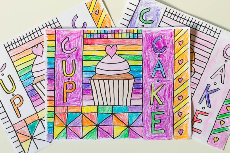 Learn How To Draw Your Own Cupcake Coloring Sheet In This Fun Food Themed Tutorial