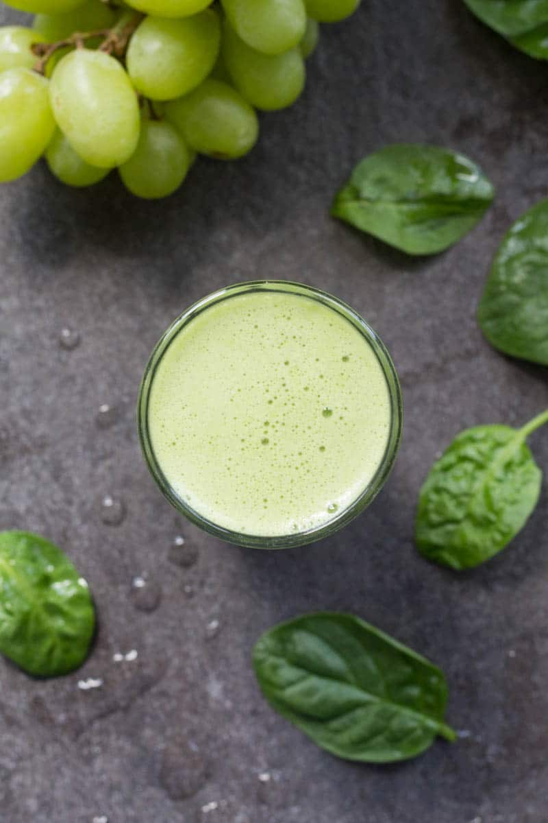 A secret ingredient makes this green grape smoothie a lovely green color! You'll love the sweet and tangy flavor that makes it perfect for any time of day.