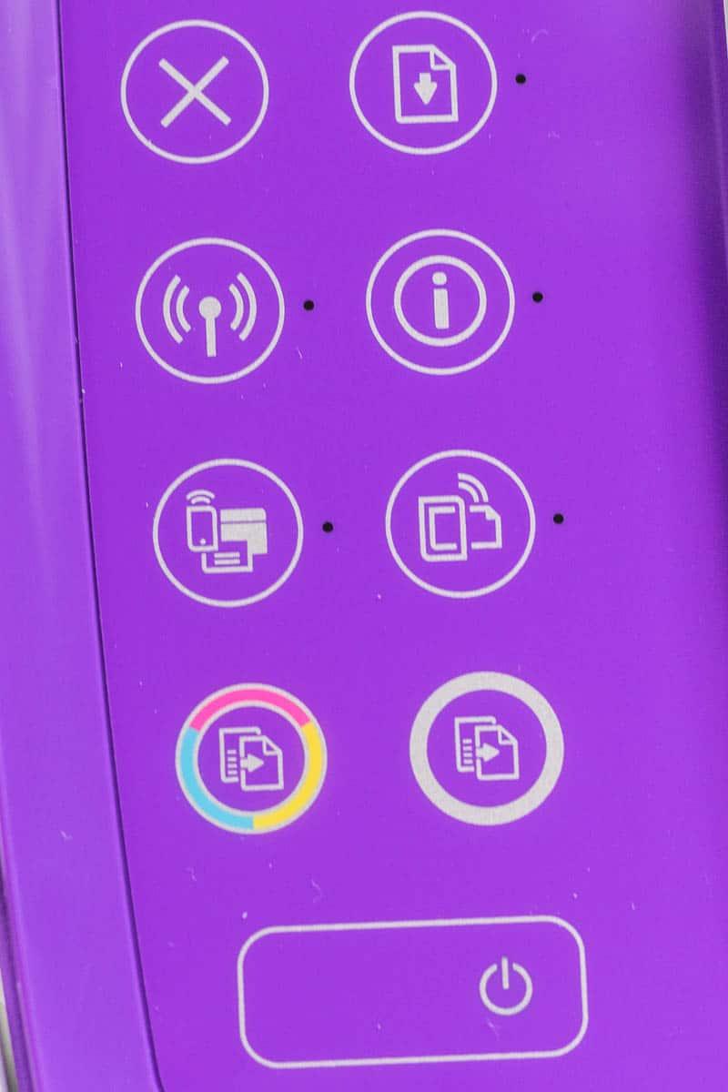 HP3636 Buttons