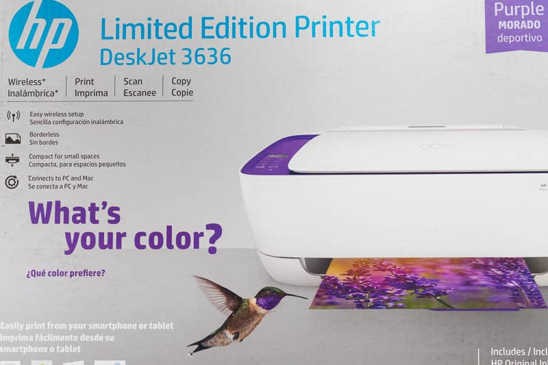 HP3636 printer box