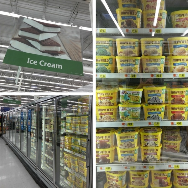 Mayfield Ice Cream at Walmart