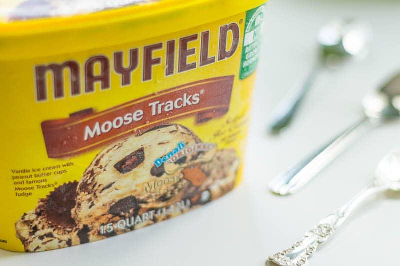 Mayfield Moose Tracks Ice Cream Carton