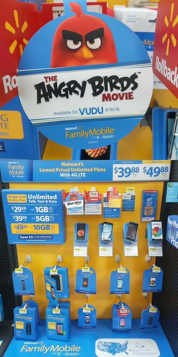 Walmart Family Mobile Display with Angry Birds
