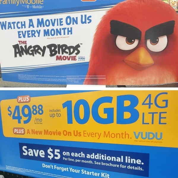 Walmart Family Mobile Plus Plan Sign