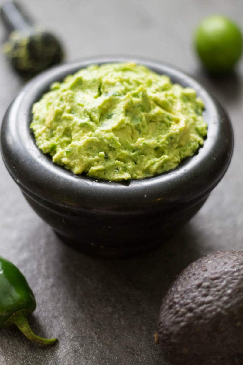 This spicy guacamole recipe is made with fresh avocados, jalapenos, lime juice, and sea salt. It's perfect if you love a little heat!