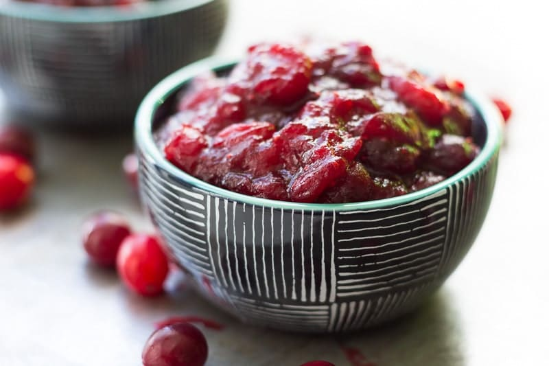 With just three ingredients (whole cranberries, tangerine juice, and sugar), this tangerine cranberry sauce is perfect for Thanksgiving!