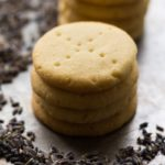 Delicately flavored with dried lavender and vanilla bean, these lavender shortbread cookies are an easy yet elegant cookie for dessert or for tea time.