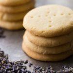 Vanilla Lavender Shortbread Cookies