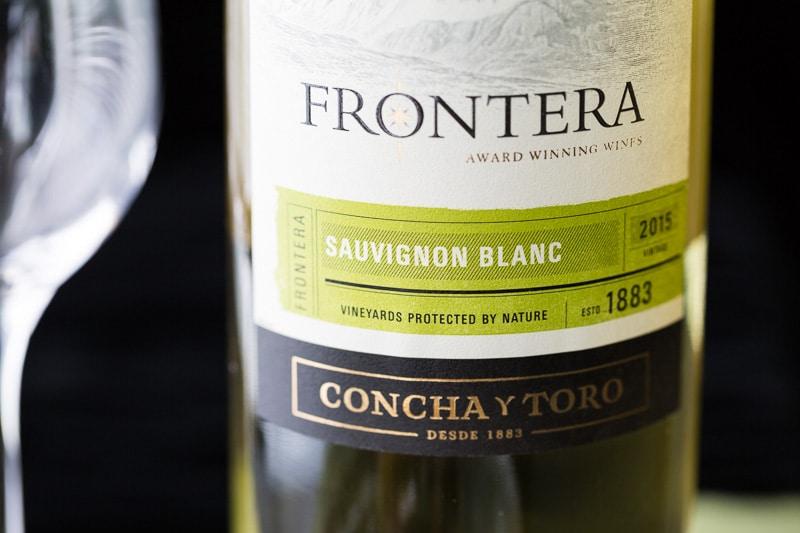 Frontera Wine Sauvignon Blanc front label