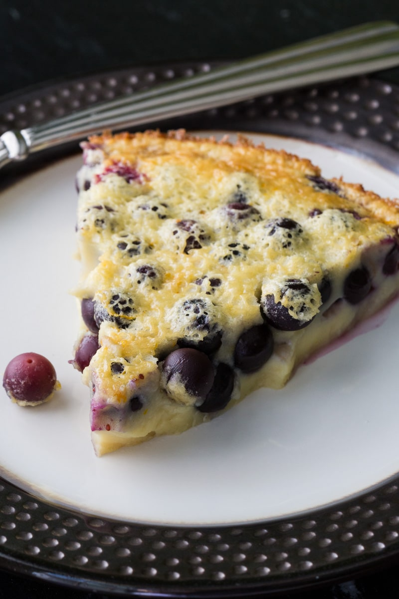 Blueberry clafoutis is a classic French dessert made by baking blueberries in a custard. This simple blueberry clafoutis recipe is easy to make.