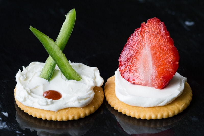 These Ritz cracker appetizer ideas are perfect for your next party. Two savory recipes and two sweet recipes are versatile enough for any occasion!