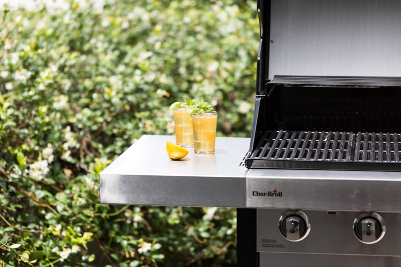Brown Sugar Grilled Lemonade next to grill