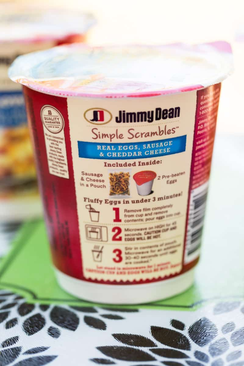 Jimmy Dean Simple Scrambles Instructions