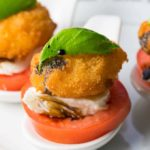 Crunchy Shrimp Caprese Salad Bite
