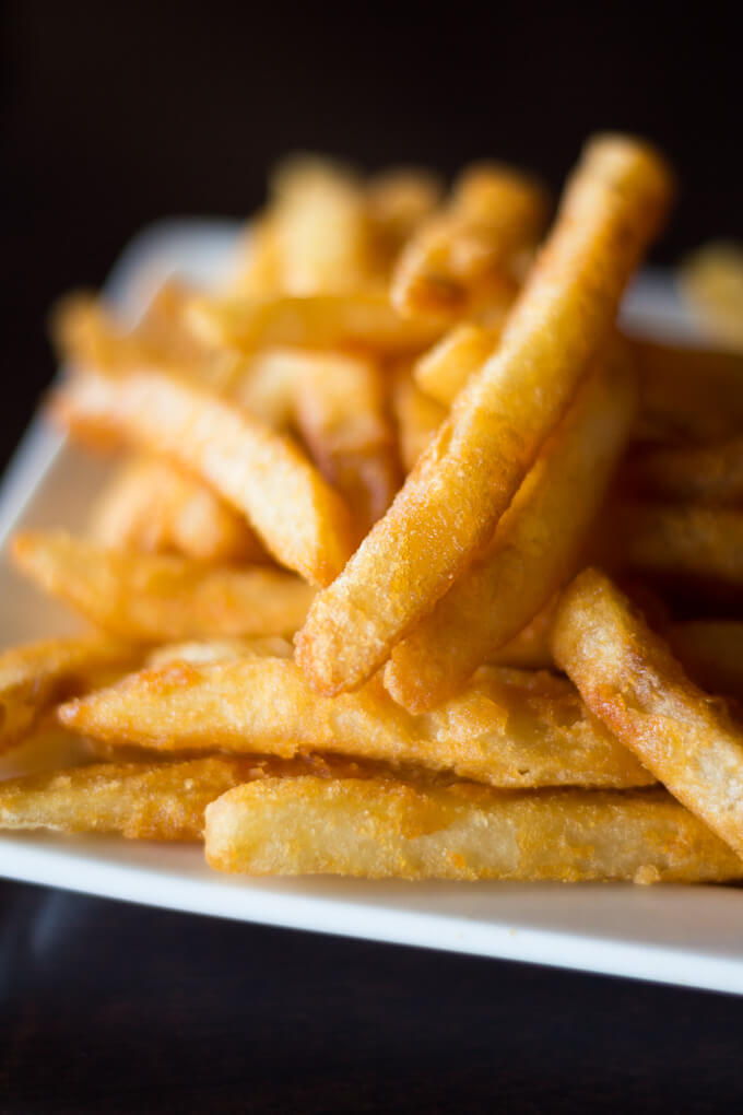 French fries on white plate