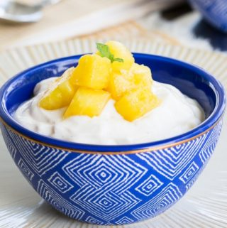 Fresh Pineapple Sauce on Greek Yogurt