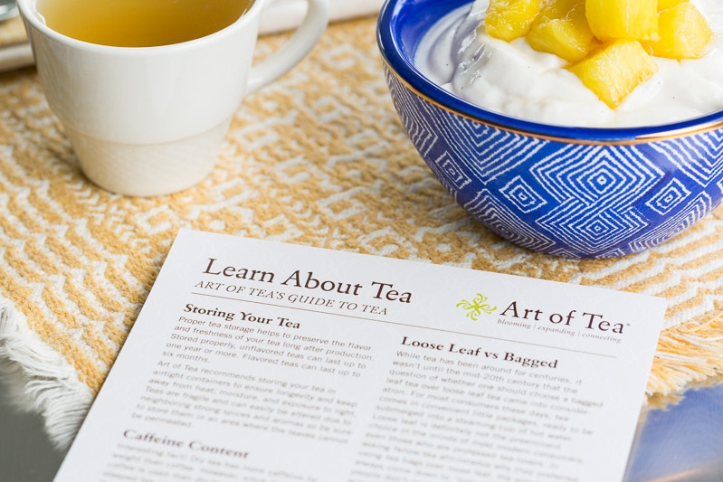 Learn about Tea card with pineapple sauce