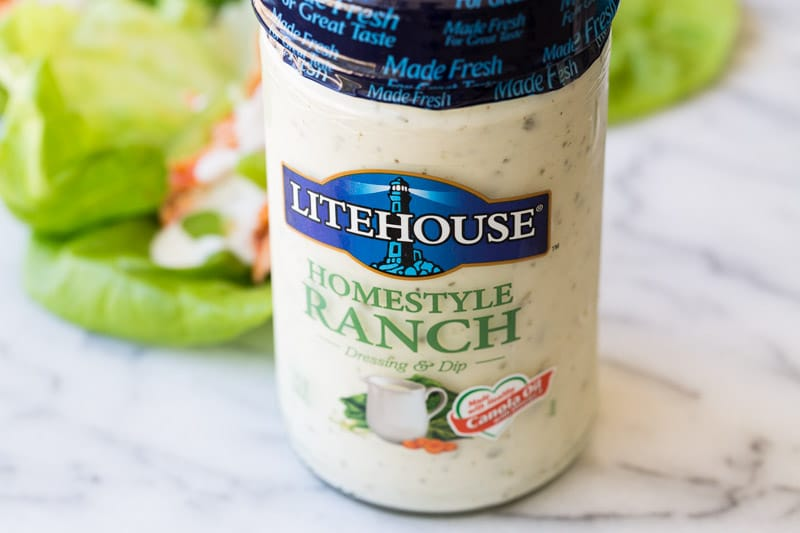 Litehouse Ranch with Lettuce Wraps