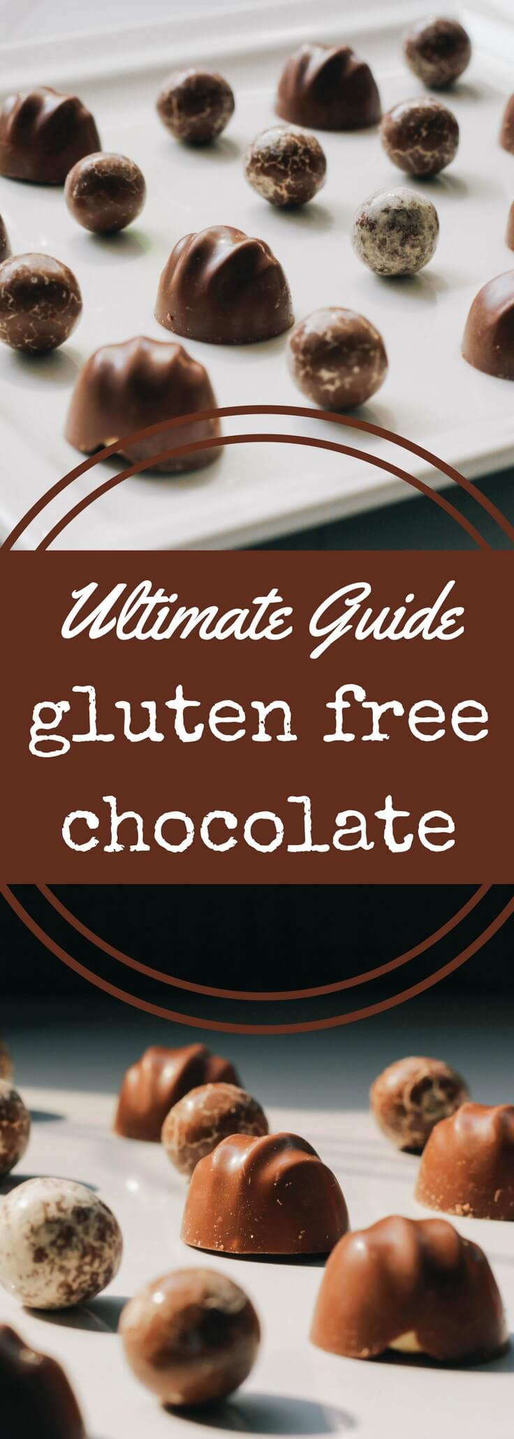 You might assume that chocolate is gluten free, but in many cases, it\'s not. Our complete guide to gluten free chocolate candy is updated every month.