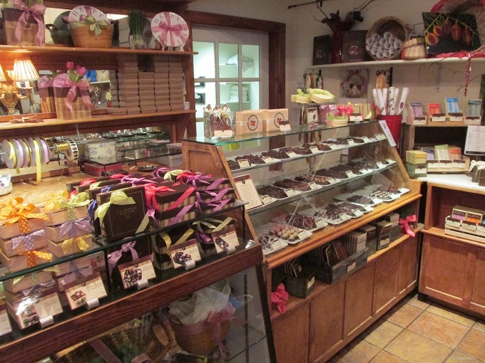 LA Burdick Chocolate Store Walpole New Hampshire, selling gluten free chocolate