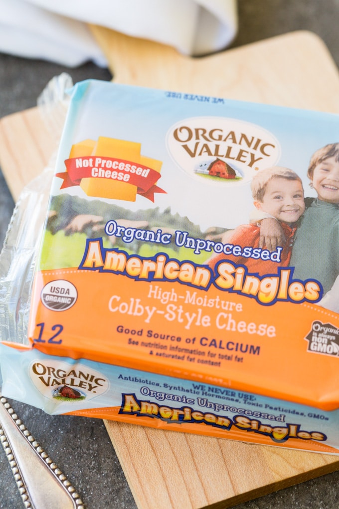 Package of Organic Valley American Singles