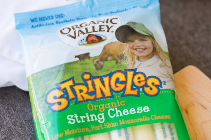 Package of Organic Valley Mozzarella Stringles