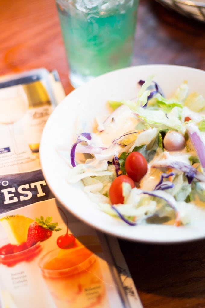 Red Lobster side salad with ranch dressing