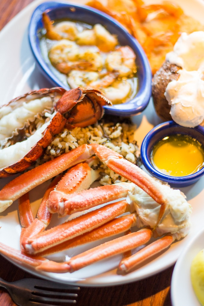 Red Lobster Crabfest Ultimate Feast with Rice