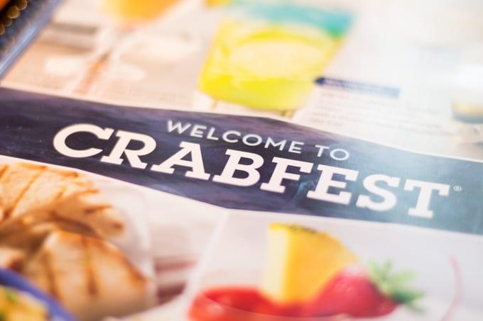 Red Lobster Crabfest Menu Cover