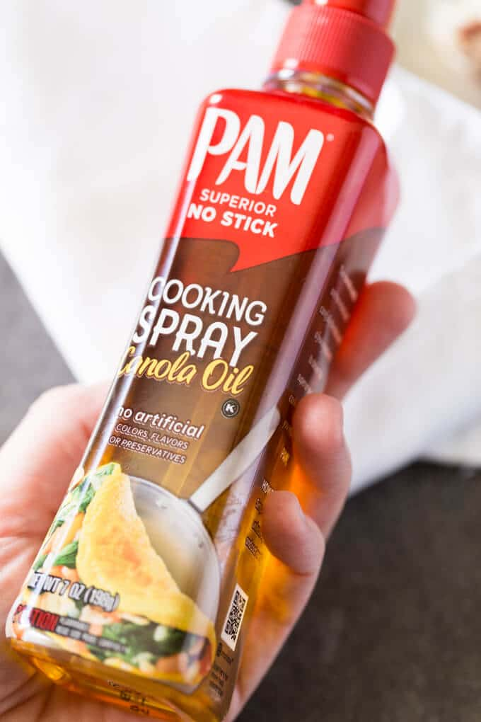 Pam Spray Pump held in one hand