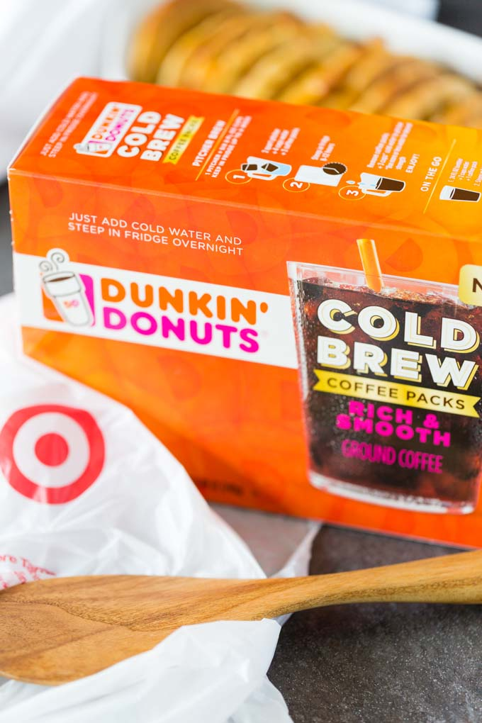Dunkin Donuts Cold Brew box with Target bag