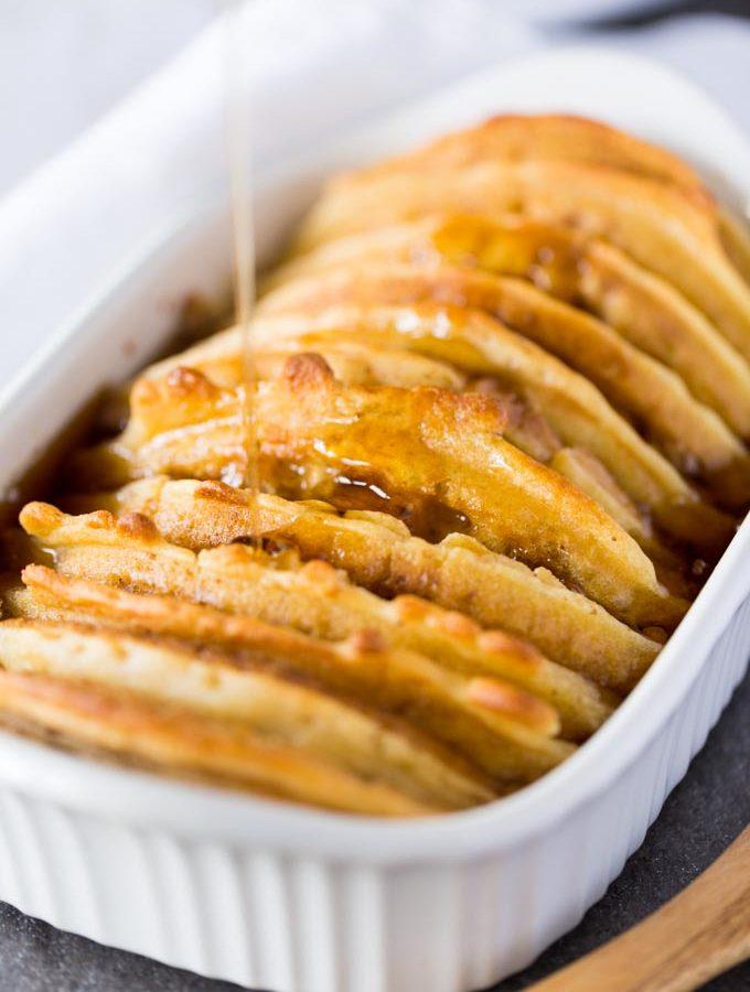 Overnight Waffle French Toast Casserole