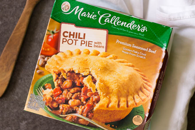 Marie Callender Chili Pot Pie Box