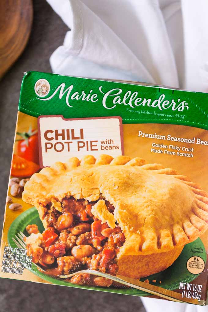 Marie Callender Chili Pot Pie Package