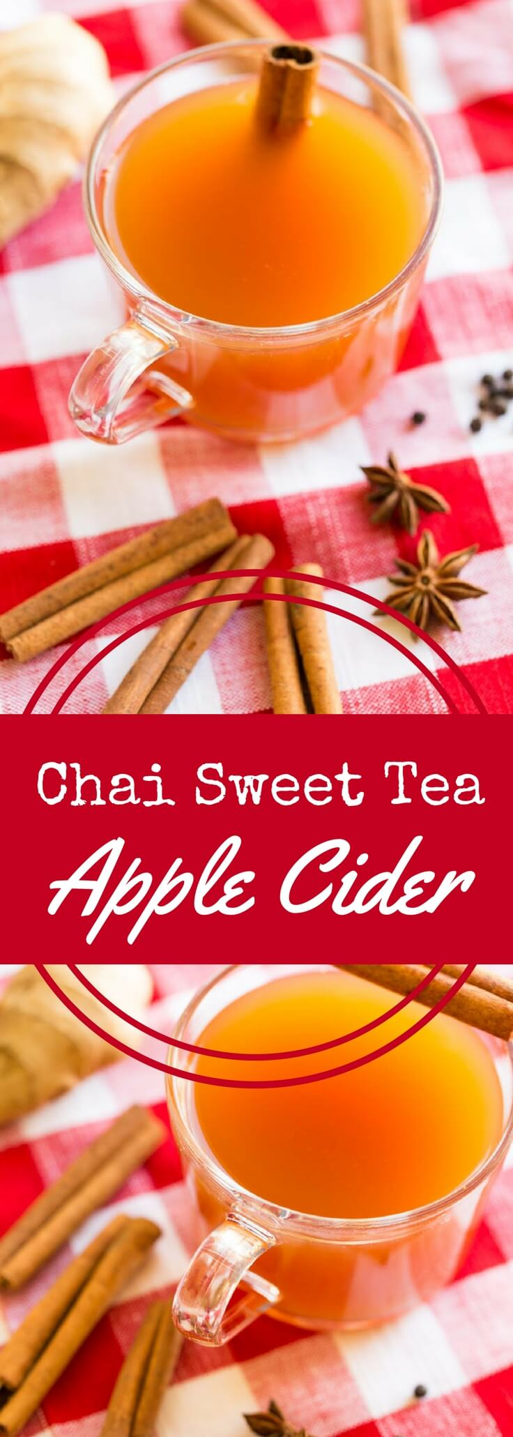 A blend of apple cider, tea, and chai spices, this delicious Chai Spiced Sweet Tea Hot Apple Cider recipe is perfect for fall, winter, and the holidays.