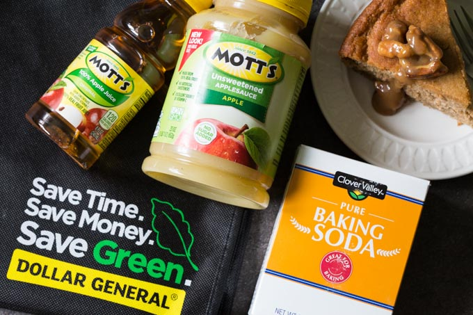 Mott's Applesauce and Juice with Clover Valley baking soda from Dollar General