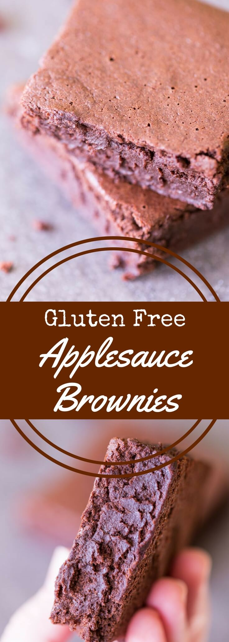 Gluten free applesauce brownies are better-for-you brownies that swap applesauce for butter. They are completely gluten free, dairy free, and delicious!