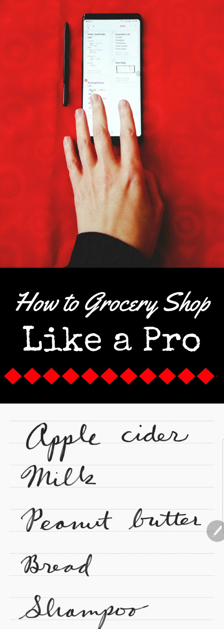 Want to learn how to grocery shop like a pro?  Get the secrets to making grocery shopping fast, affordable, and efficient.