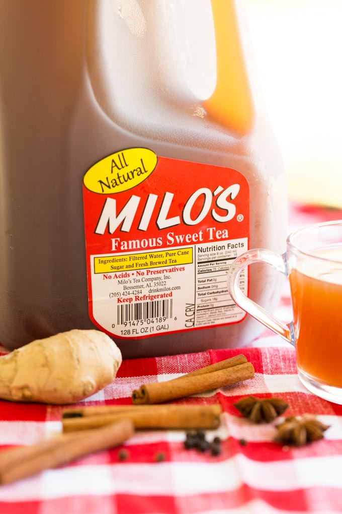 Milo's Tea Gallon with Chai Spiced Hot Apple Cider Tea