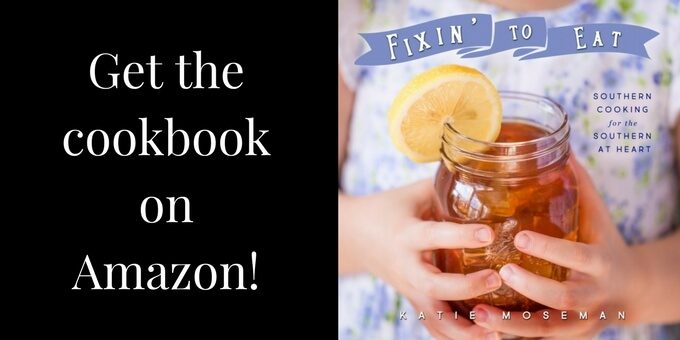 Fixin to Eat Southern cookbook cover with Amazon sales text
