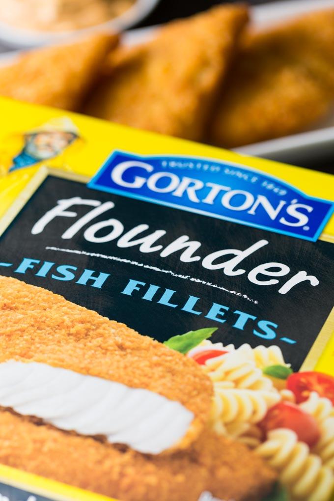 Gorton's Seafood flounder box