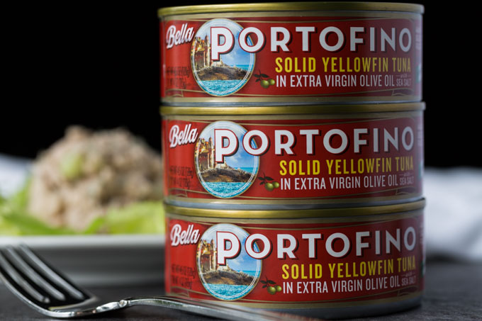 Bella Portofino yellowfin tuna cans