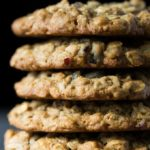Tall stack of gluten free breakfast cookies