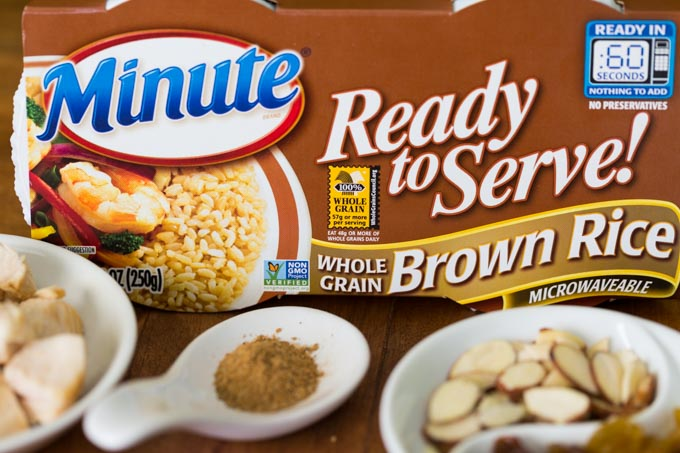 Box of Minute Ready to Serve Brown Rice with Moroccan rice ingredients