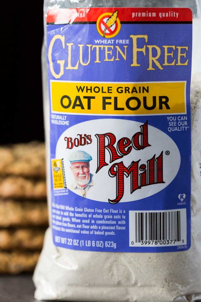 Bag of Bob's Red Mill Gluten Free Whole Grain Oat Flour