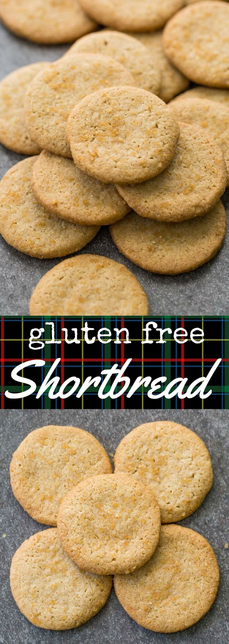Traditional style gluten free shortbread made with only five ingredients: gluten free oat flour, butter, vanilla, sugar, and salt.  Pure and simple, with a perfect crunch and a tantalizingly buttery aroma.