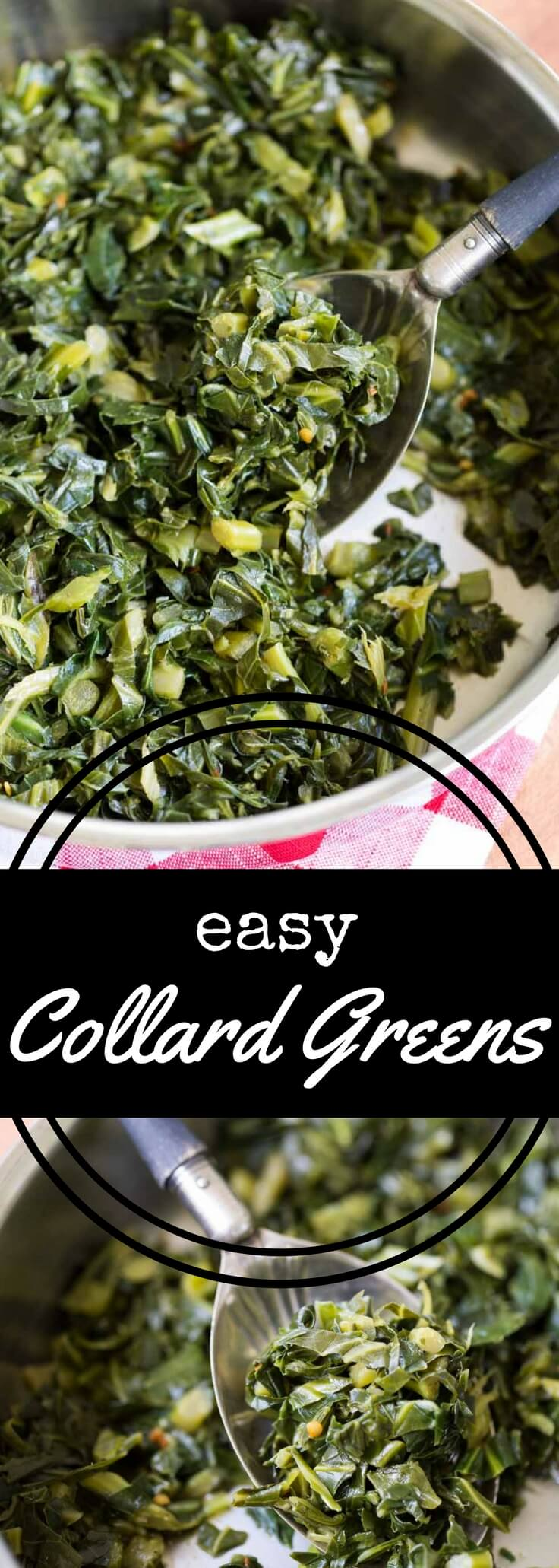 This easy collard greens recipe is simple to make, requiring only a small amount of fat along with chicken broth and a touch of seasoning.