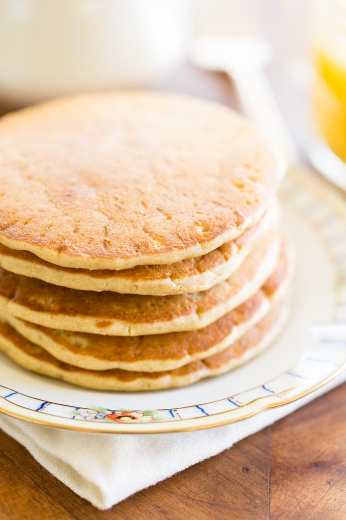 Oat Flour Pancakes (Gluten Free) • Recipe for Perfection Oat Flour Pancakes